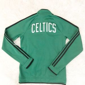 Adidas Celtics Green 3 stripe jacket NBA